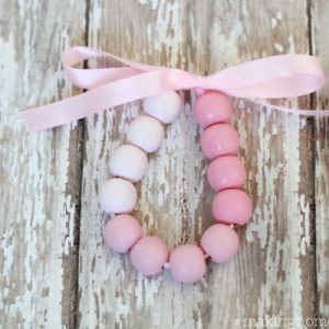 Pretty Ombre Wood Bead Bracelet