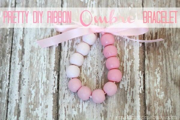 DIY Pretty Ribbon Ombre Bracelet