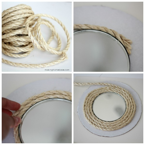 sisal rope circle mirror upcycle making home base - Sisal Rope