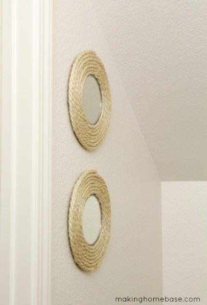 Circle Mirror Sisal Rope Upcycle