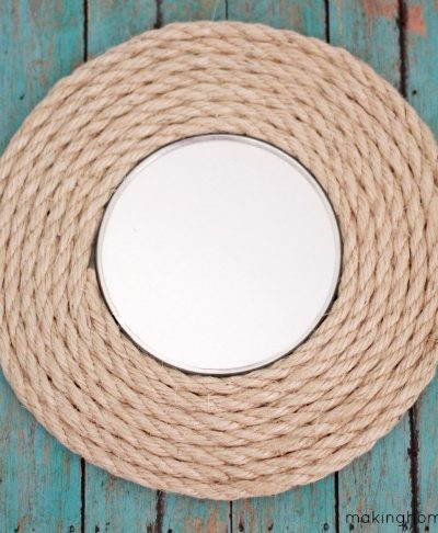 Circle Mirror Sisal Rope Upcycle
