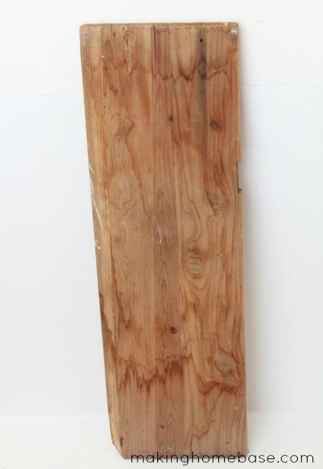 Barn wood beach sign