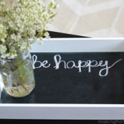 Chalkboard Painted Tray