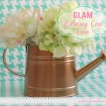 GLAM Spray Painted Watering Can Vase