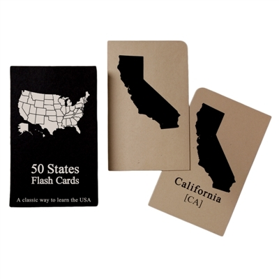 DIY Vintage Inspired State Flash Cards