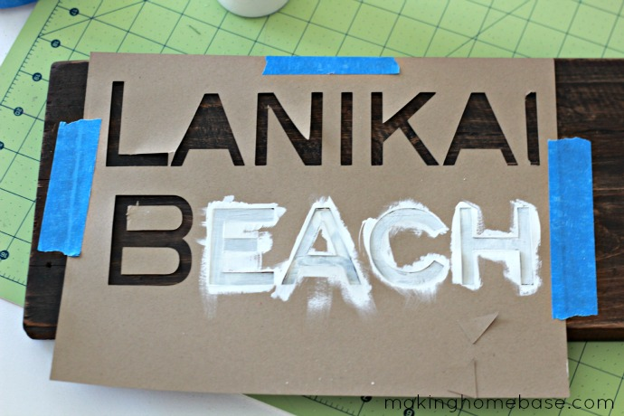 Lanikai barnwood sign