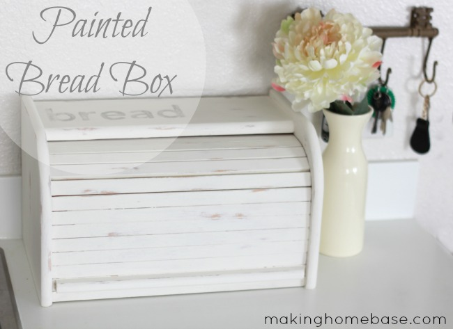 Painted Bread Box Making Home Base