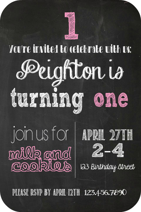 Chalkboard birthday invitation ps birthday invitation filmwisefo Choice Image