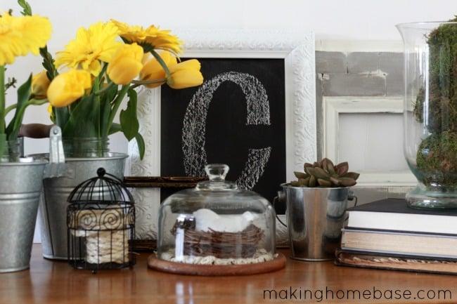 Decorating for Spring: Spring Vignette