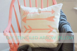 Trendy Drop Cloth Arrow Pillow DIY copy
