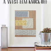 Scrappy West Elm Wall Art Knock Off