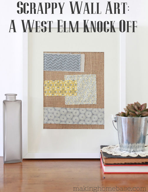 Fabric Scrap West Elm Knock Off Wall Art