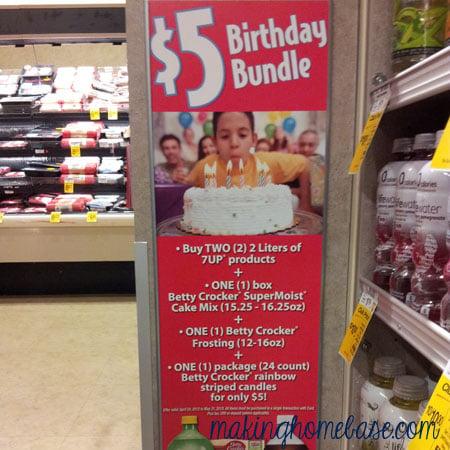 First Birthday Smash Cake With $5 Bundle