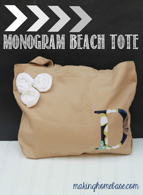 Monogram Beach Tote Making Home Base
