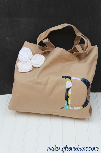 Monogram Tote Bag Making Home Base