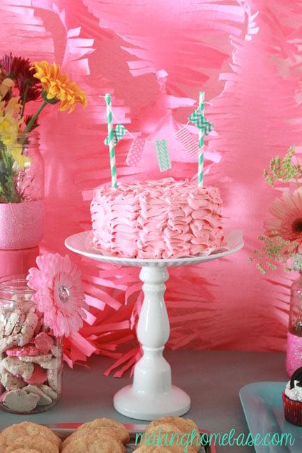 Pink and Aqua birthday