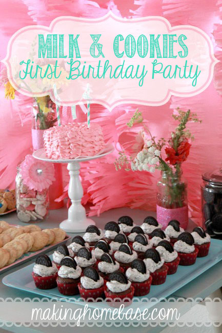 Milk and Cookies Party Pink and Aqua