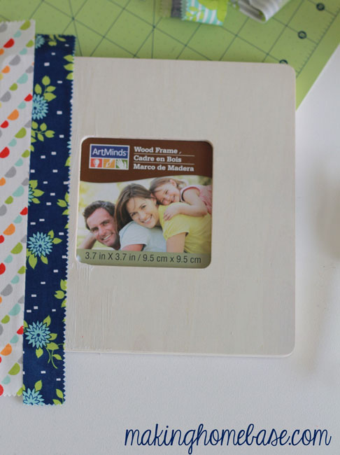 making home base Fabric Covered Picture Frame