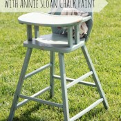 vintage high chair with annie sloan chalk paint