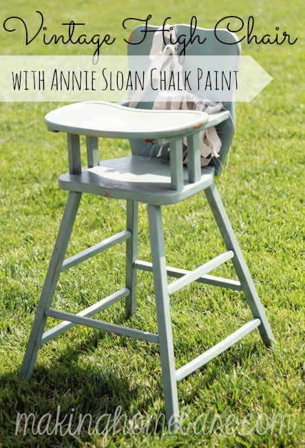 Vintage Wooden High Chair with Annie Sloan Chalk Paint