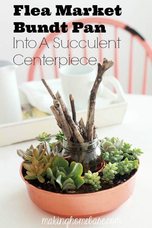 Repurposed Bundt Pan - Succulent Centerpiece