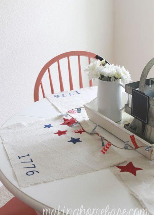 Last Minute 4th of July Decor: 20 Minute Patriotic Placemats