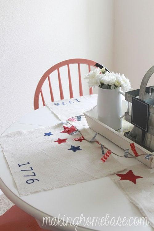 20 min patriotic placemats