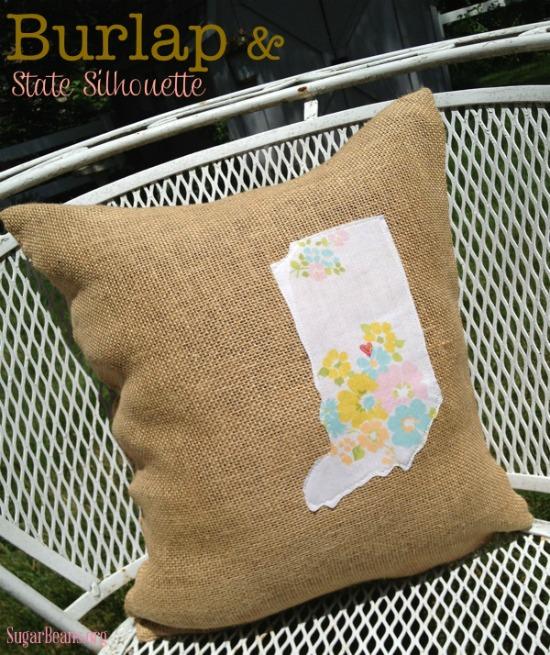 Burlap & State Silhouette pillow