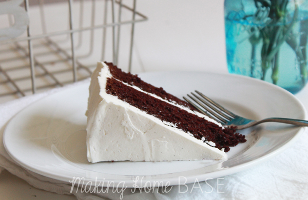 Chocolate Cake and Vanilla Bean Frosting