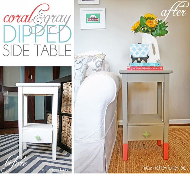 Color Dipped Side Table Title