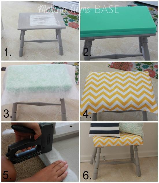 DIY Upholstered Footstool Tutorial & Upholstered Foot Stool: A DIY Tutorial islam-shia.org