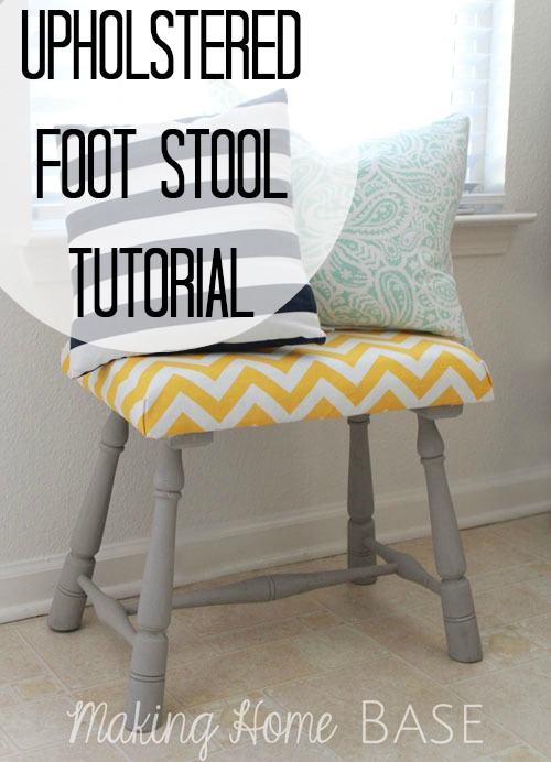 Peachy Upholstered Foot Stool A Diy Tutorial Squirreltailoven Fun Painted Chair Ideas Images Squirreltailovenorg