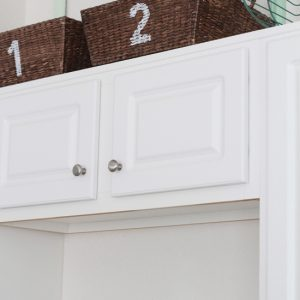 Updated Storage Baskets with Stain and Number Stencils