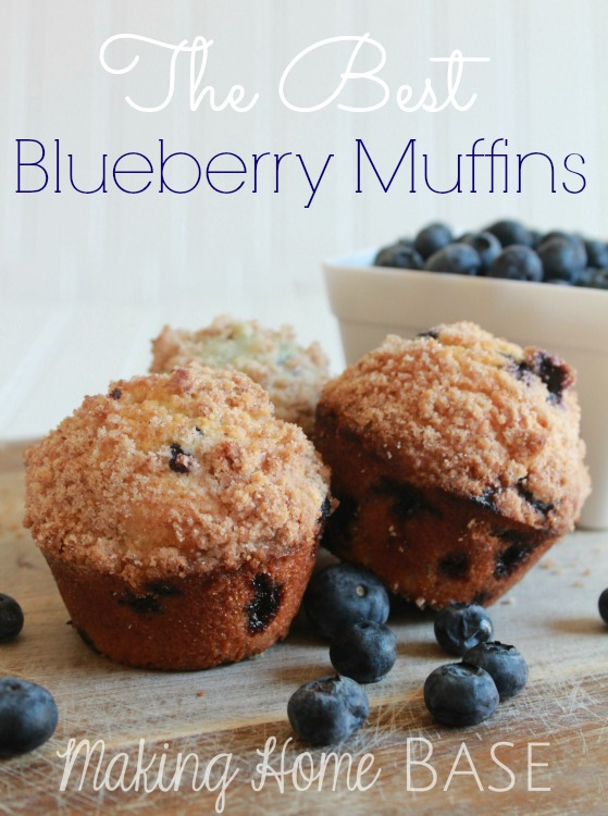 The Best Mouthwatering Blueberry Muffins