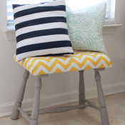 DIY Upholstered Foot stool Tutorial