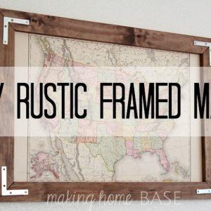 DIY Rustic Frame For A Vintage Map