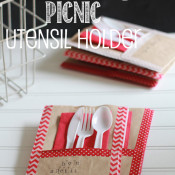 Washi Tape and Paper Bag Utensil Holders. Perfect for picnics! Put your trash in the bag when your done. Brilliant!