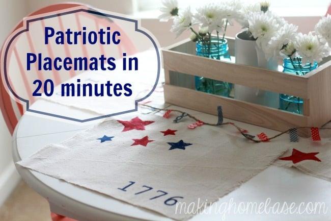 patriotic placemats