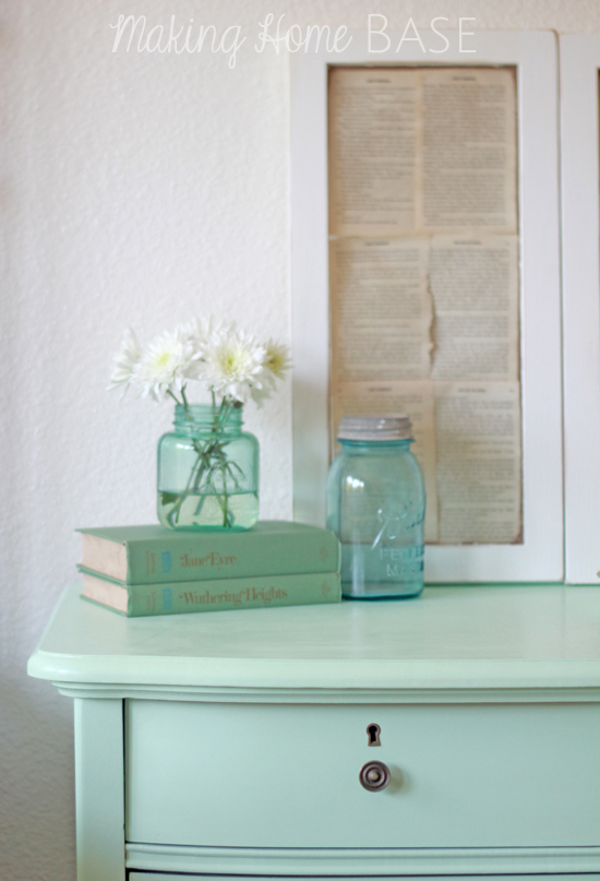 Mint Painted Nightstand Mint Home Decor With Paint
