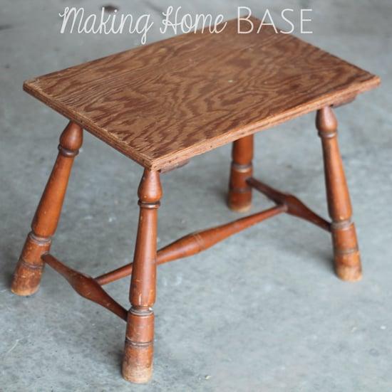 DIY Upholstered Footstool Tutorial