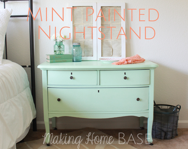 Ordinaire Beautiful Mint Painted Nightstand