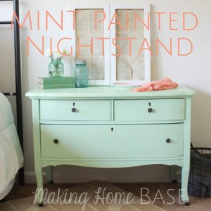Mint Painted Nightstand