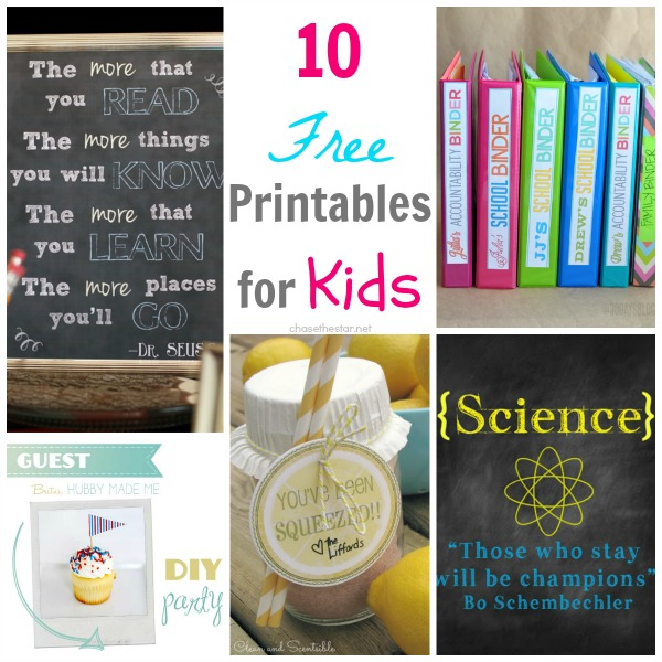 10 Free Kids Printables: The Creative Connections Features