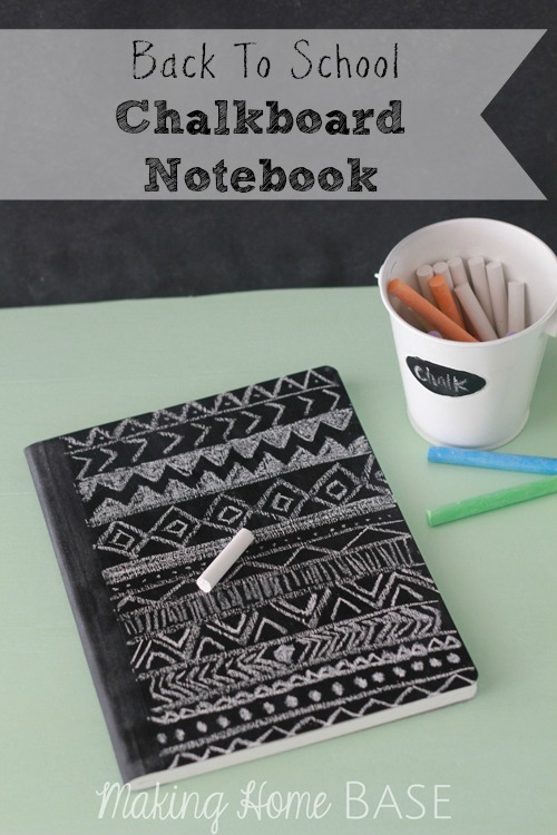 Chalkboard notebook for back to school tutorial for Back to school notebook decoration ideas