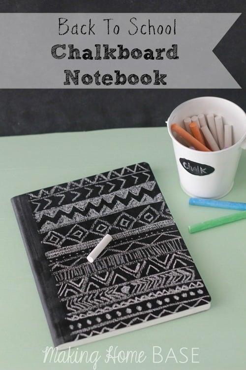 Chalkboard Notebook for Back to School