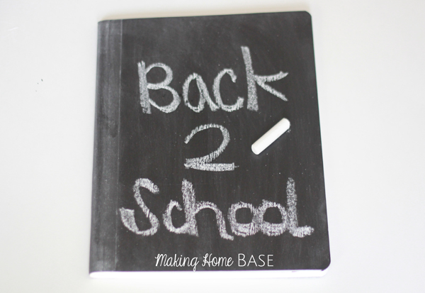 Back to School Chalkboard Notebook