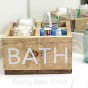 DIY Wood Bathroom Caddy