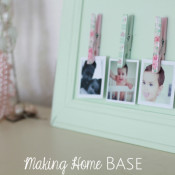 Repurposed Cabinet Instagram Photo Display