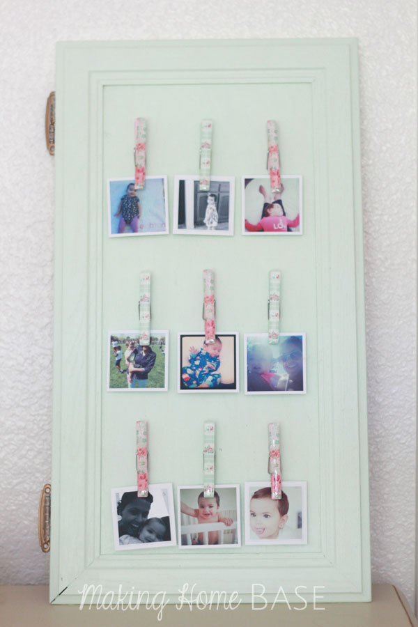 Repurposed Cabinet Instagram Photo Display