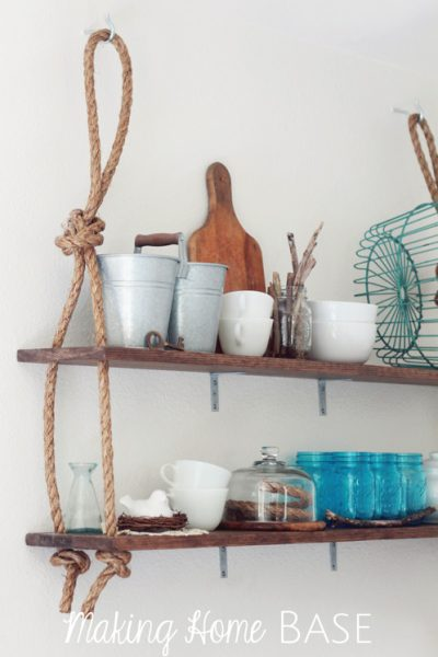 DIY Wall Shelving with Rustic Details